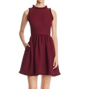 Kate Spade Maroon for and flair dress